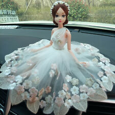 Hot Fashion Car Decoration Cute Girls Wedding Dress Doll Interior Accessories