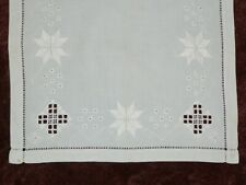 Hardanger Lace-Doily Centercloth Antique Vintage Norwegian Hand Embroidery