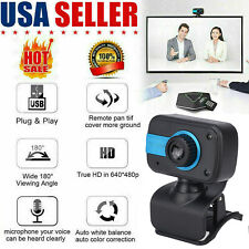 HD Webcam USB Computer Web Camera For PC Laptop Desktop Video With Microphone