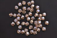 200pcs 4mm Bicone Faceted Crystal Glass Loose Spacer Beads Gold Champagne AB
