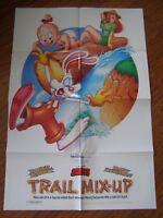 Vintage Movie Poster 1 sheet Walt Disney Trail Mix-up 1993 Kathleen Turner