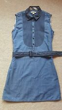 BURBERRY NEUF Bleu Filles Robe De Coton Taille 12 RRP £ 155