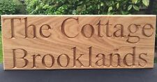 Large Personalised Solid Oak Outdoor Custom House 3 Sizes Engraved Sign Wooden