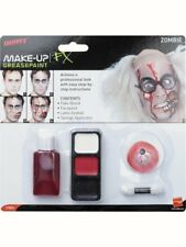 Zombie Makeup Kit Make-up Face Paint Halloween Mad Scientist Fancy Dress Costume