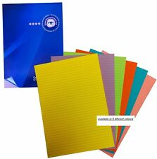 5 x Asst Visual Memory Pad A4 Colour 100 Pg 50 sheet Dyslexia Lined Refill Pad