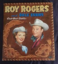 Roy Roger And Dale Evans Cut-Out Dolls Uncut Unpunched 1954 Whitman