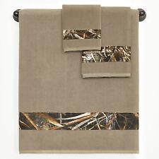 Realtree Max-5 Towel Set Camo Ducks Geese Grasses Hunting Terrycloth 3pc Bath