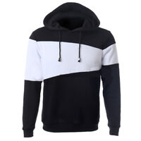Fashion Men's Classic Hooded Sweatshirt Jumper Plain Pullover Sweater Hoodie CG