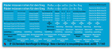 Peddinghaus 1/160 1253 Diverse Reichsbahn Caption Military Trains