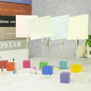 Card Standing Cube  Photo Clip Note Clamp Place Card Holders Memo Card Holder