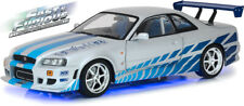 GREENLIGHT 19041 NISSAN GT-R R34 model NEON VERSION 2 FAST & 2 FURIOUS 2003 1:18