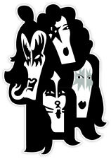 "KISS faces sticker decal 3"" x 5"""