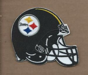 NEW 2 7/8 X 3 INCH PITTSBURGH STEELERS HELMET IRON ON PATCH FREE SHIPPING P1