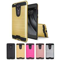 For Coolpad RevvL Plus Armor Metal Brushed Shockproof Rugged Box TPU Hard Case