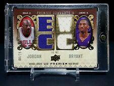 Michael Jordan Kobe Bryant 08-09 UD Premier Remnants 4 Quad Jersey /25