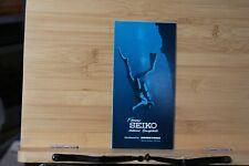 Brochure Seiko Marine Timepieces Watch Scuba Diving Water vintage 1971