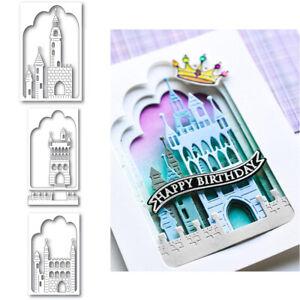 Castle Metal Cutting Dies Scrapbooking Paper Card Decor Craft Embossing Stencil