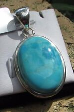 19.50 cts Genuine Arizona Turquoise Pendant in 925 Sterling Silver