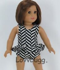"""Black & White Swim Suit Doll Clothes for 18"""" American Girl Doll  Best Selection!"""