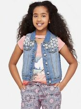 Justice Girl's Crochet Denim Vest Size 18-20 New with Tags