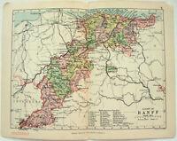 Philips 1891 Map of The County of Banff Scotland by J. Bartholomew