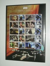 2015  LS96 STAR WARS  Heroes & Villains Souvenir / Collector Sheet