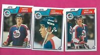 1983-84 OPC JETS MULLEN RC + CAMPBELL RC + EAVES RC  CARD (INV# C3565)