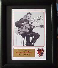 Eddie Cochran Preprinted Autograph & Guitar Pick Display Mounted & Framed #2