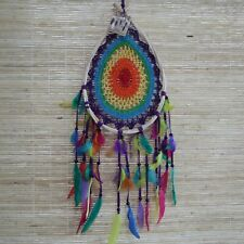 Large Macrame Rainbow Teardrop Dreamcatcher - Dream Catcher