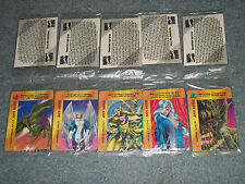 5 DIFFERENT ANY HERO PROMO CARDS STILL IN PLASTIC MARVEL OVERPOWER RARE  SEALED
