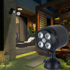 Motion Sensor PIR Battery Powered Wall Spotlight LED Garden Security Lights NEW