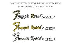 More details for 2 custom made guitar water slide decals plus free spares bundle