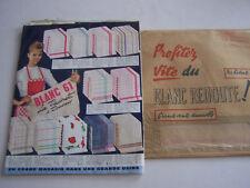 CATALOGUE LA REDOUTE ROUBAIX , BLANC 1961 AVEC ENVELOPPE , ECHANTILLONS , CARTE