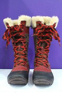 MERRELL Winterbelle Peak Boots 7  Mahogany & Burgundy Suede Waterproof Insulated