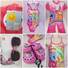 My Little Pony Girls OFFICIAL Swim Wear Clogs Sunglasses Swimming Costumes