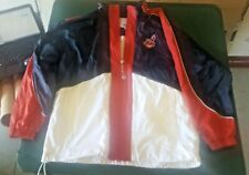 Cleveland Indians Rain Jacket By Starter Size Large With Chief Wahoo Logo