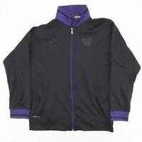 NIKE Black Dri-Fit Casual Zip Up Track Shell Sports Jacket Mens Size Medium