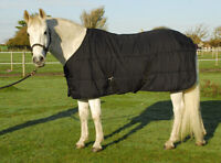 Windsor Classic 200g Horse Pony Stable Quilt Under Rug In Black, Layering