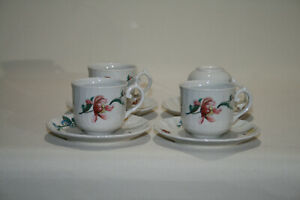 4x Villeroy & Boch Bouquet Gedeck Tasse Untertasse Kaffee Teller V&B Porzellan