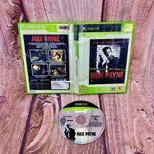 Xbox Game Max Payne classics original retro gaming in case no manual pal vgc