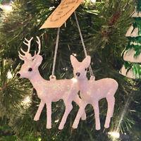 Ino Schaller Bayern Germany Christmas Reindeer & Deer White Ornament Set