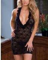 Black Lingerie Babydoll Nightwear Chemise Sleepwear Dress Plus Size K153