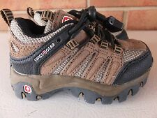 SWISS GEAR Comfort Fit Brown Leather Athletic Trail Shoes Toddler Boy 5 Like Dad