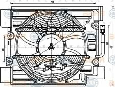 8EW 351 040-101 HELLA Fan  A/C condenser