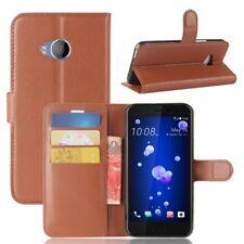 Cartera De Bolsillo Premium Marrón para HTC U11 Life Estuche Cubierta