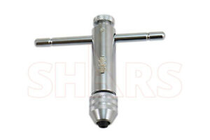 "SHARS- #0 - 1/4"" T-Handle Ratchet Tap Wrench NEW! !}"