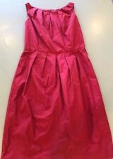 Witchery Red Burgundy Corporate Career Fit n Flare Dress Size 12