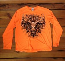 Paramount Outdoors Hunting Bone Collector Blaze Orange Long Sleeve Shirt L 44""