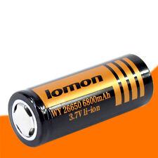 26650 6800mAh 3.7V Rechargeable Li-ion Battery For Flashlight Camera Laser
