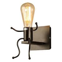 Lampara de pared creativa E27 Forma del hombre Aplique de luz linda Aplique d N4